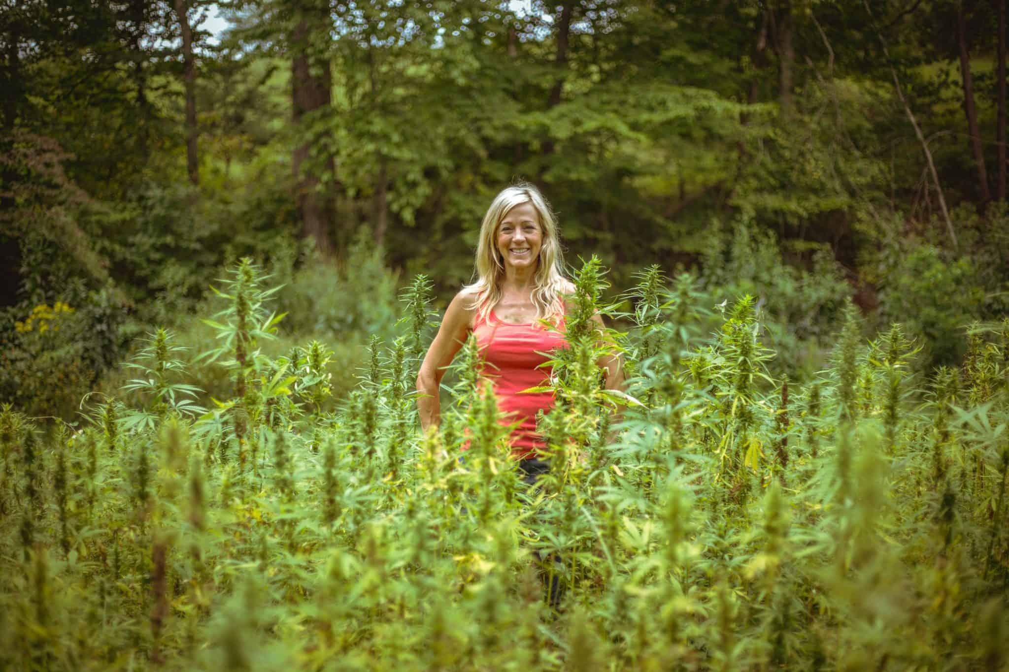 Franny Tacy on TEDx, franny's farmacy blog, hemp field, women in hemp