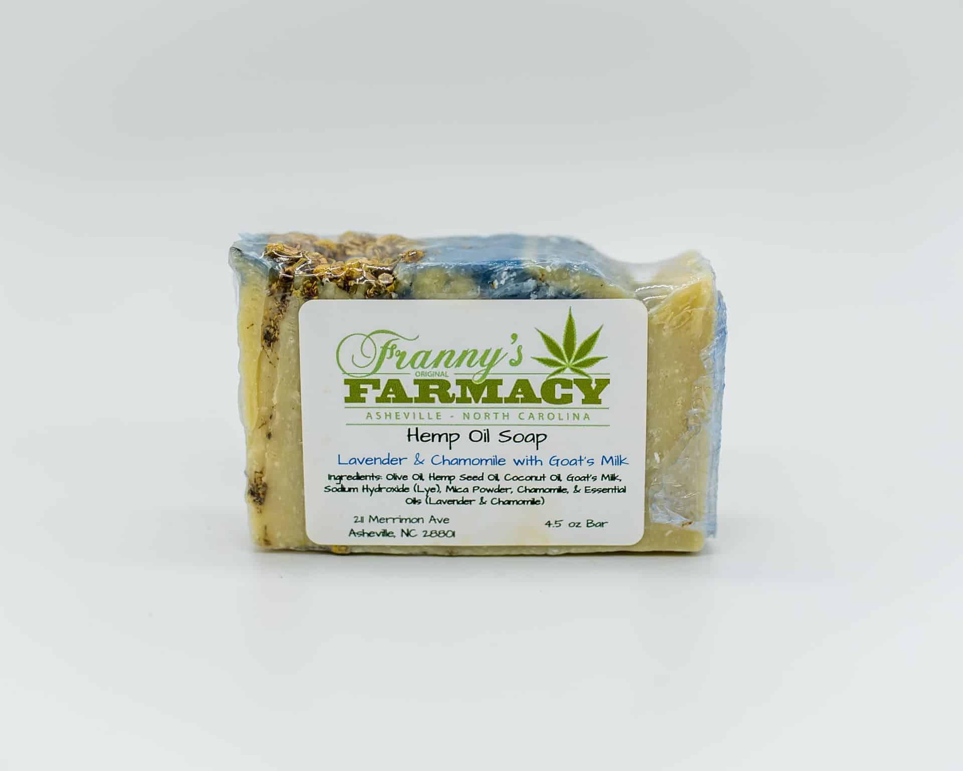 Franny's Farmacy Lavender and Chamomile Hemp Oil Soap