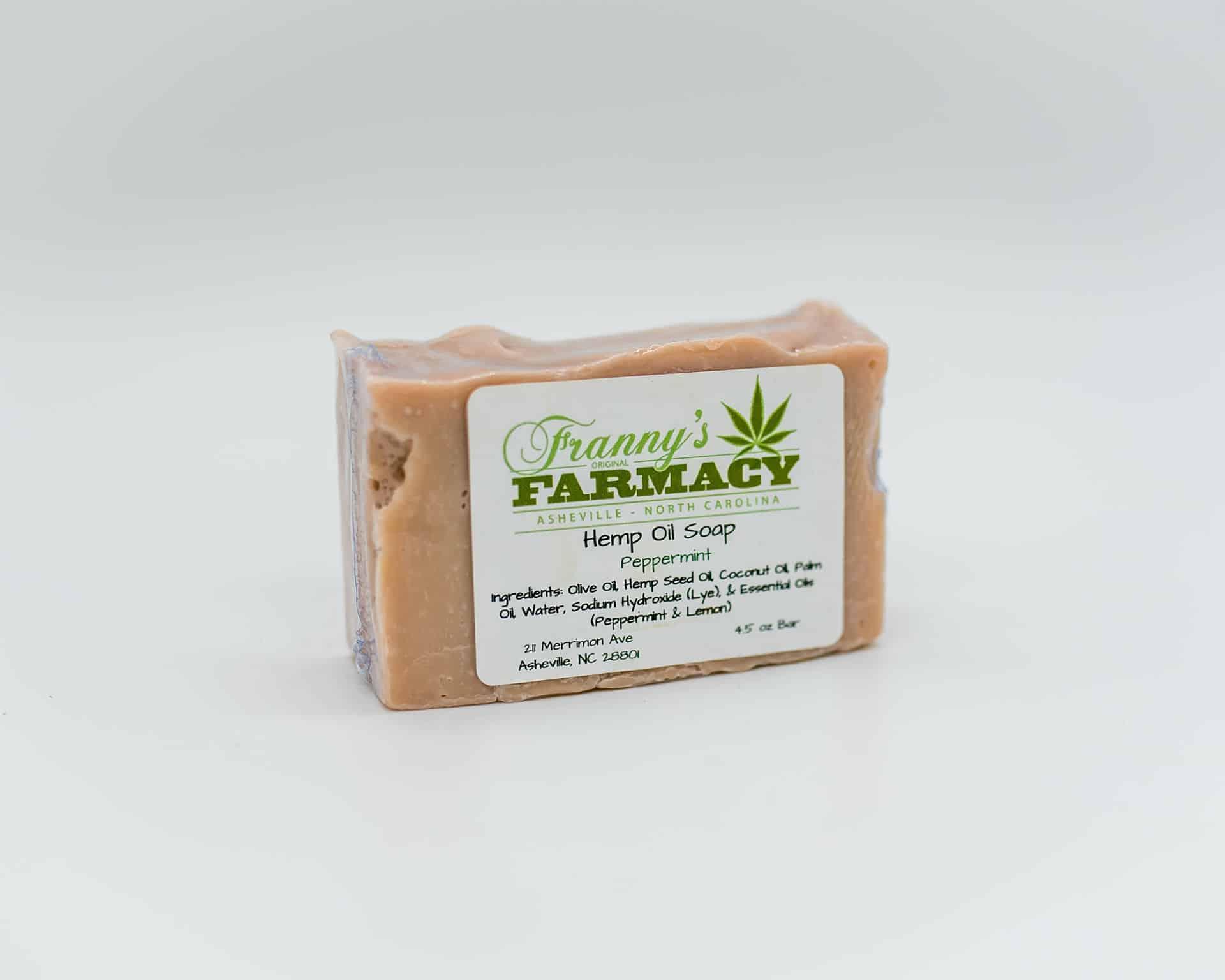 Franny's Farmacy Peppermint Hemp Oil Soap