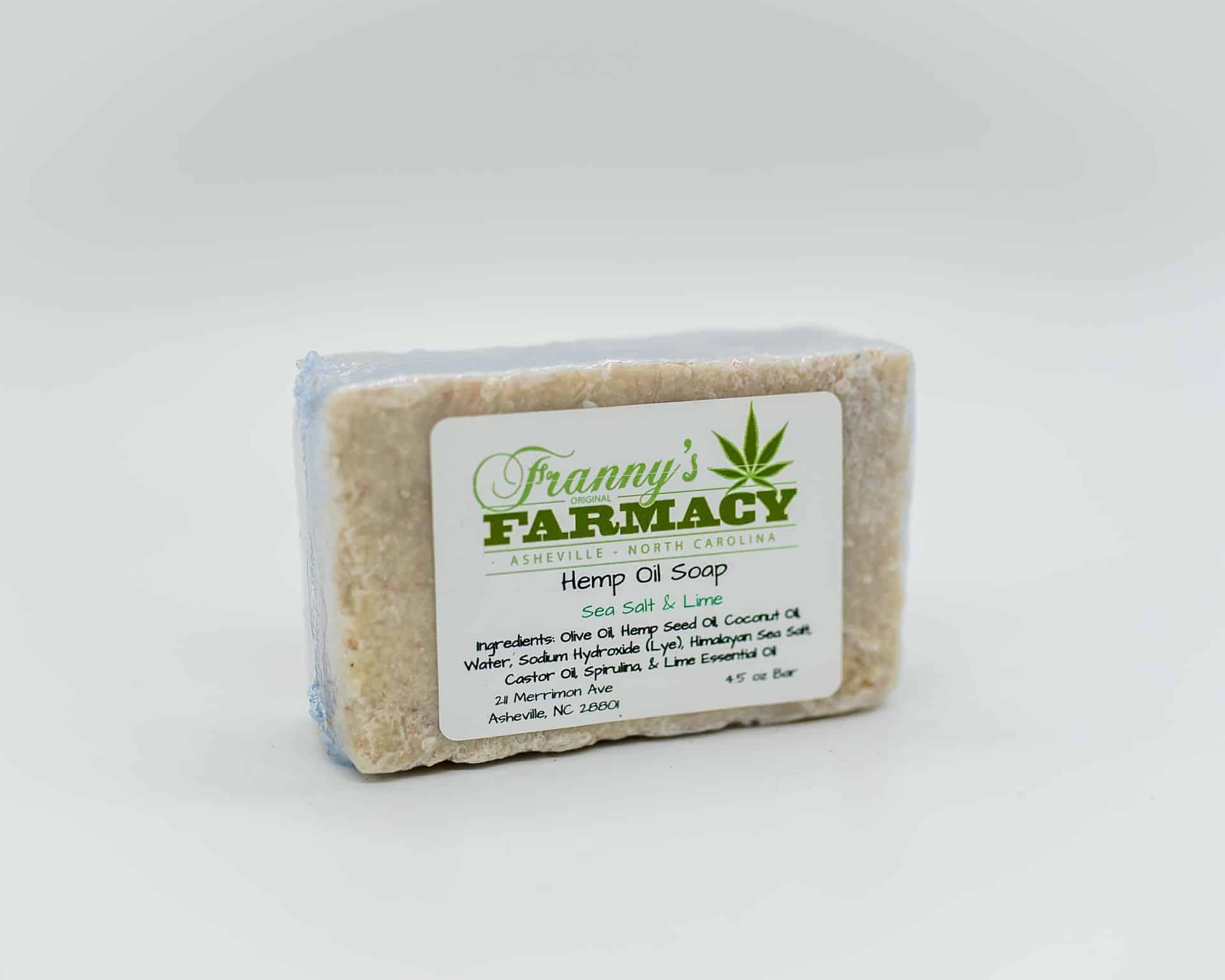 Franny's Farmacy Sea Salt and Lime Hemp Oil Soap