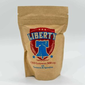 Liberty CBD Gummies 500mg with Turmeric and Spirulina
