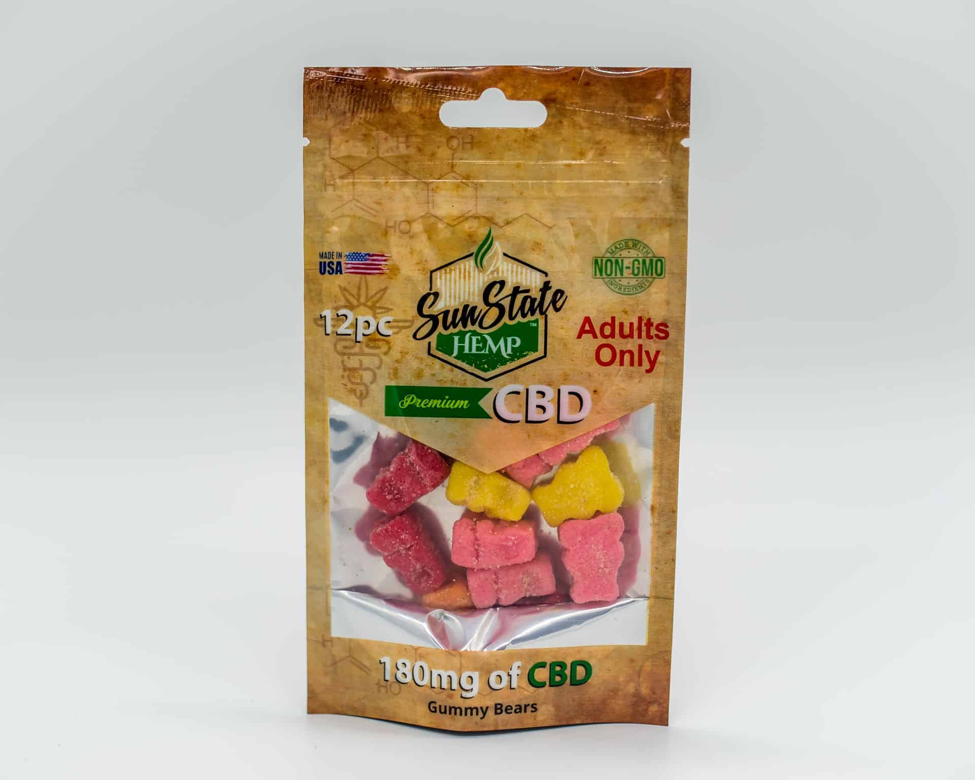 Sun State Hemp Gummy Bears 180mg